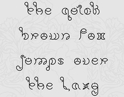 Caractères typographiques d'inspiration birmane