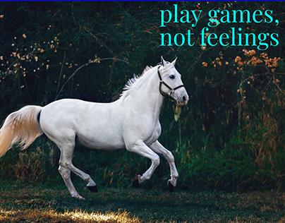 Play games, not feelings art design