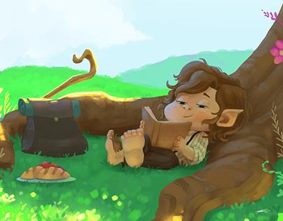 Whatcha reading? - Character Illustration