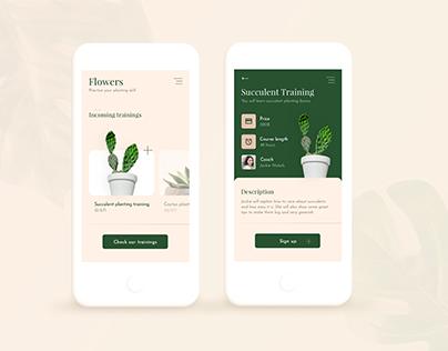 Flowers App Concept