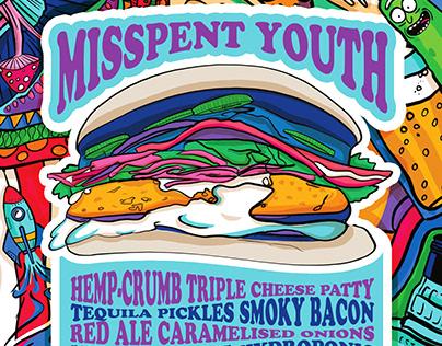 Misspent Youth- Wellington on a Plate Burger Menu