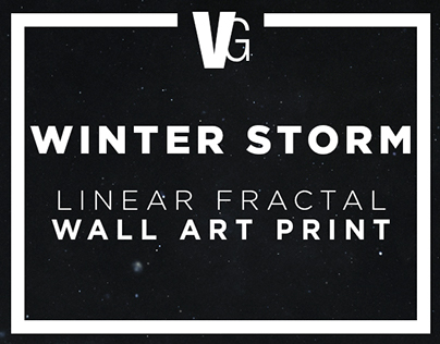 WINTER STORM - Linear Fractal Print