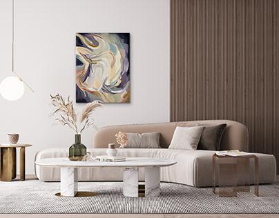 """""""Vanilla"""" Abstract Oil Painting"""