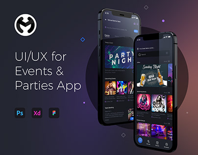 Mobile User Interface Design for Events & Party App