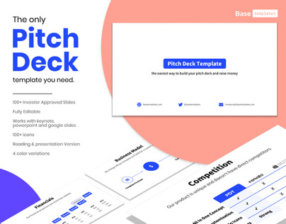 Pitch Deck Template | Investor Keynote Presentation