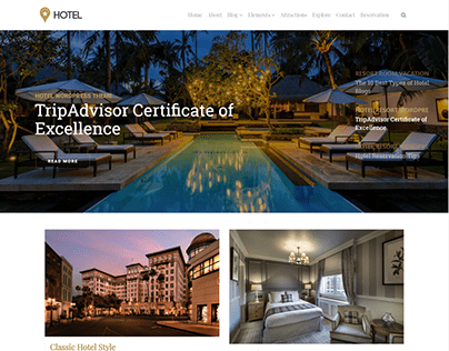 Posts Slider Page - Hotel WordPress Theme
