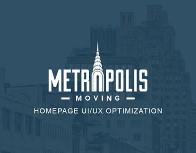 Metropolis Moving Homepage UI/UX Optimization