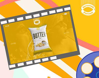 Movietime Popcorn - Web Design