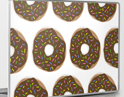 Chocolate Covered Sprinkled Donuts