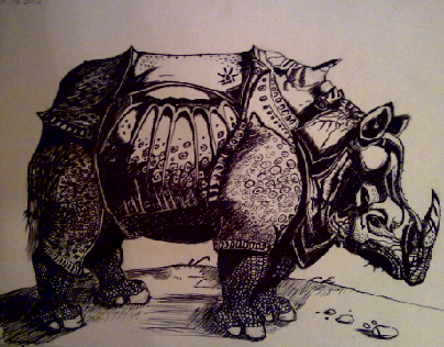Illustrations with pen and ink