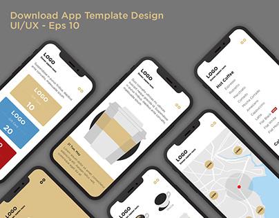 Download app UI/UX - eps 10