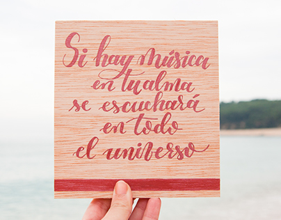Lettering in wood