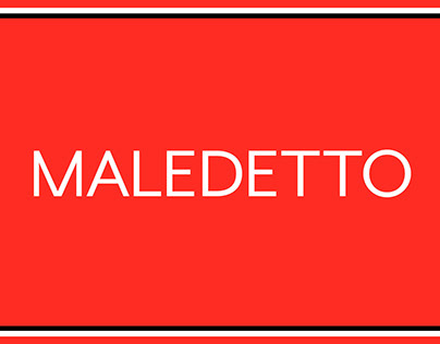 Maledetto—Typeface design