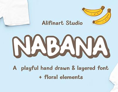 Nabana Hand Drawn & Layered Font