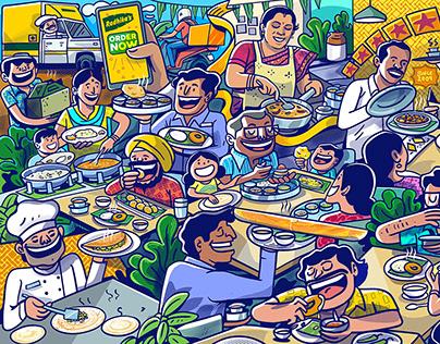 Radhika's Restaurant Mural