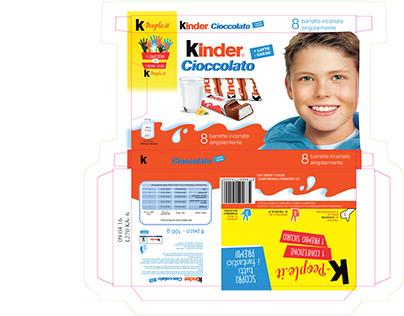 Packaging Kinder Cioccolato