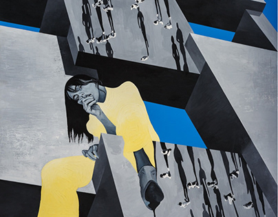 """My Blue Heaven""   150x200  Acrylic/canvas"
