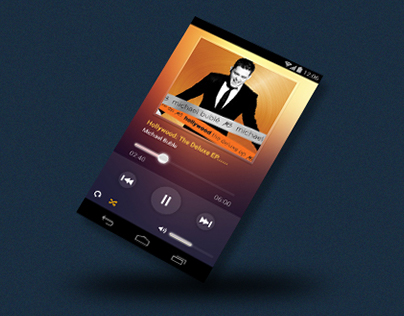 iPhone, Android mobile UI for Music App