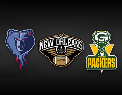 NFL X NBA Logo Mashup