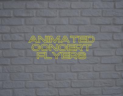 Random Animated Concert flyers