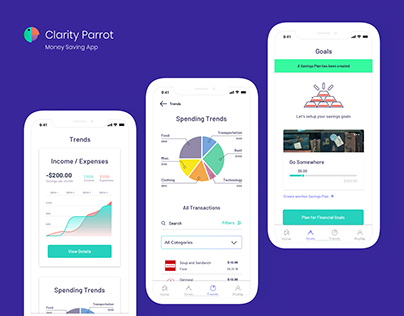 Clarity Parrot - Money Saving App
