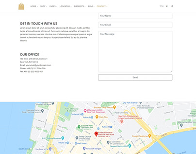 Contact Map Section - Seller WordPress Theme