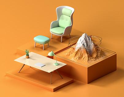 GORA — CGI / Web design