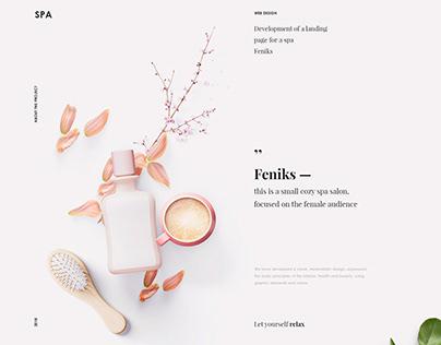 Feniks. Landing page