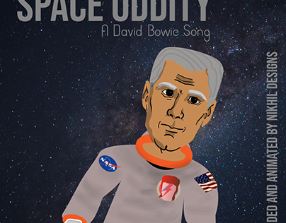 Space Oddity Cover, A Motion Graphic Experiment
