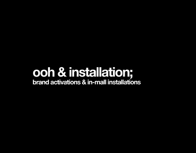OOH & Installations Copywriting