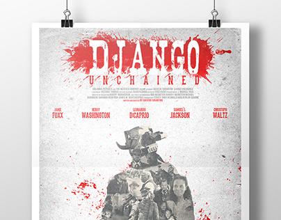 Recriação de banner do filme Django