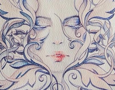 Snow Queen. Illustrations for FW16 AnnaIvanova