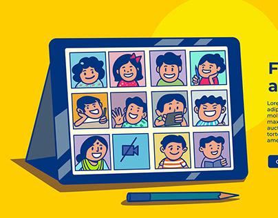 Learning app illustration