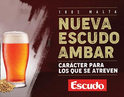 Cerveza Escudo - Lanzamiento Escudo Ámbar