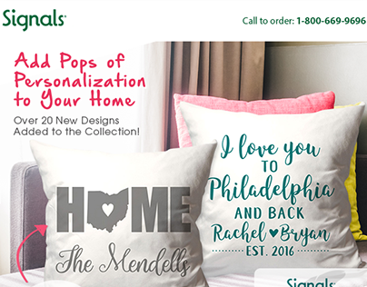 Personalized Pillows Email Design