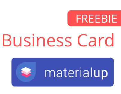 Material Business Card : FREEBIE