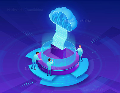 Cloud service futuristic