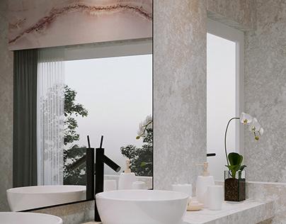 ROSE MARBLE BATHROOM