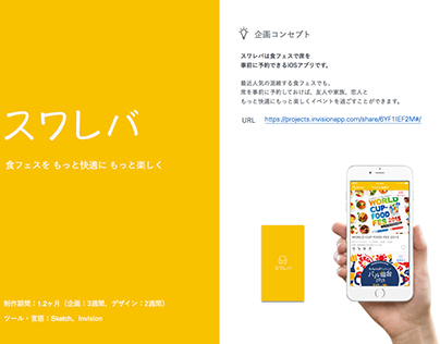 食フェスで席を予約できるアプリ「スワレバ」のUX/UIデザイン