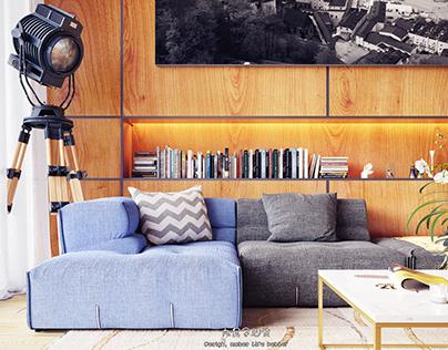 Ceilinged apartment