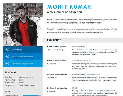 Graphics Designer CV