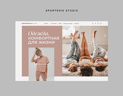 Website for SportShik Studio — E-commerce / Online Shop