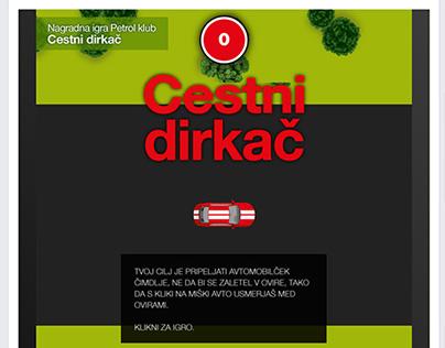 Cestni dirkač Facebook HTML5 game