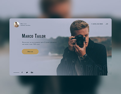 Photographer landing page