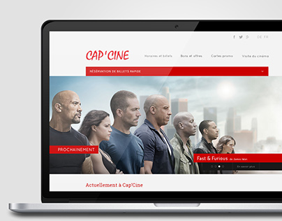 WEB DESIGN // Cap'Cine Website Redesign
