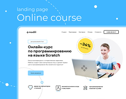 Landing Page of Online Programming Course
