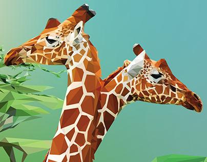 Low Poly Art - Girafa