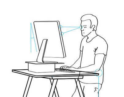 Standing Desk Illustration