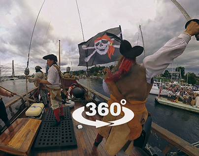 Pirate battle on «LIBAVA» sailer