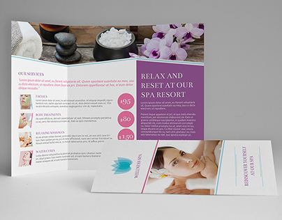 Spa A4 / Letter Trifold Brochure